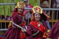Llamerada dancers at the Oruro Carnival in Bolivia Stock Image