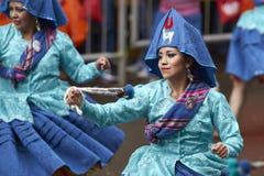 Llamerada dancers at the Oruro Carnival in Bolivia Stock Images