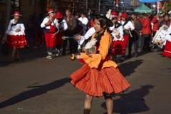 Llamerada dancers at the Oruro Carnival in Bolivia Stock Photos