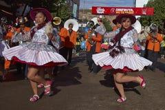 Llameradadansers in Oruro Carnaval in Bolivië Royalty-vrije Stock Foto