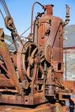 LLANBERIS, WALES/UK - 10月7日:在S的生锈的老蒸汽起重机 库存图片