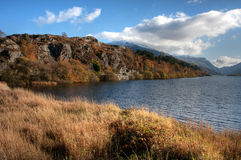 Llanberis In Autumn Stock Image