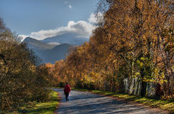 Llanberis In Autumn Royalty Free Stock Photography