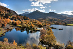 Llanberis In Autumn Royalty Free Stock Images