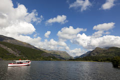 Llanberis Lake, Snowdonia, North Wales Stock Image