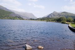 Llanberis,llyn peris wales royalty free stock photography