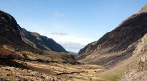Llanberis Pass in Snowdonia North wales Royalty Free Stock Image
