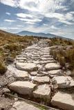Llanberis path to Snowdon mountain Stock Photo