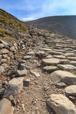 Llanberis path to Snowdon mountain Stock Images