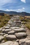 Llanberis path to Snowdon mountain Royalty Free Stock Photography
