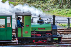 LLANBERIS, WALES/UK - OCTOBER 7 : LLanberis Lake Railway at LLan Royalty Free Stock Photo