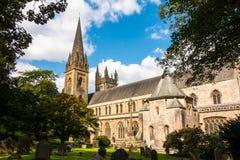 LLandaff大教堂在加的夫,威尔士 图库摄影