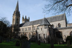 Llandaff Cathedral. Cardiff in winter Royalty Free Stock Photography