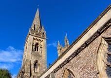 Llandaffkathedraal in Cardiff, Wales, het UK royalty-vrije stock afbeelding