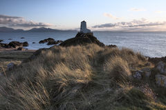 Llanddwyn Island. A beautiful place with lighthouses  crosses and ruins Stock Images