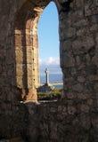 Llanddwyn island Celtic Cross Stock Image