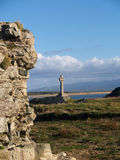 Llanddwyn island Celtic Cross Royalty Free Stock Photography