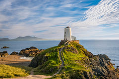 Llanddwyn island lighthouse Stock Image