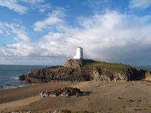 Llanddwyn island Twr Mawr light house Royalty Free Stock Photos
