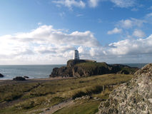 Llanddwyn island Twr Mawr light house Royalty Free Stock Images