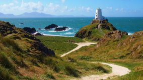 lighthouse in Anglesey, Wales Royalty Free Stock Image