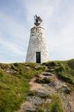 Llanddwyn lighthouse, North Wales Stock Photo