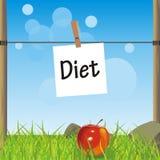 lLandscape con un letrero una dieta Fotografía de archivo libre de regalías