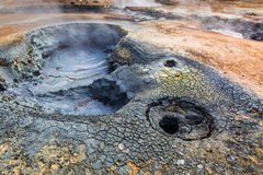 Llandscape de stupéfaction Namafjal, Islande Photographie stock
