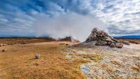 Llandscape excitante de Namafjal, Islândia Imagem de Stock