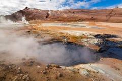 Llandscape Namafjal, Исландия Стоковое фото RF