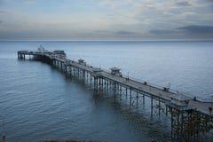 llandudno北部码头威尔士 免版税库存图片