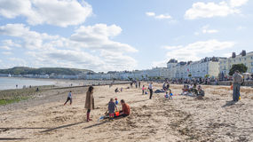 Llandudno beach. The seaside resort of Llandudno in Wales in late summer Stock Photos