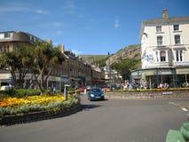 LLandudno, beau Pays de Galles Pris du site de Llandudno voyant le train Beau temps photographie stock