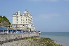Llandudno grand hotel. The Grand Hotel Llandudno overlooking the bay and promenade, Llandudno, Wales, UK Stock Photography