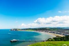 Llandudno havsframdel i norr Wales, Förenade kungariket royaltyfri fotografi