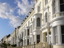 Llandudno Hotels. Row of Victorian hotels on the seafront at Llandudno, North Wales, UK Stock Photos