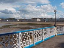 Llandudno molo Gwynedd Walia 2 i deptak Fotografia Royalty Free