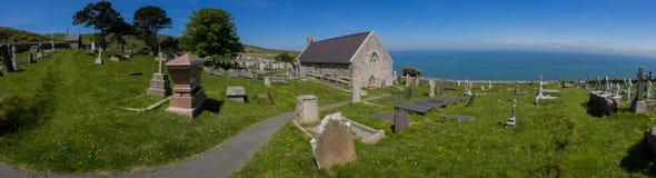 Llandudno, North Wales - graveyard and church Stock Image
