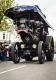 Hero view of large road locomotive. Royalty Free Stock Image
