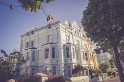 Llandudno, Północny Walia, UK 06/06/2015 artykułów wstępnych Widok na hotelach w miasteczku Obraz Royalty Free