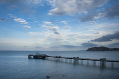 Llandudno Pier. In North Wales on a bright sunny day Stock Photos