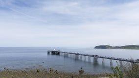Llandudno Pier North Wales Regno Unito Immagini Stock Libere da Diritti