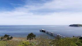 Llandudno Pier North Wales Regno Unito Fotografia Stock