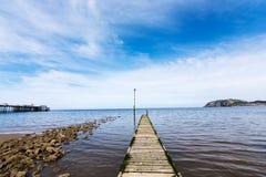 Llandudno Pier North Wales Regno Unito Fotografia Stock Libera da Diritti