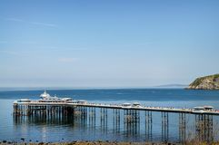 Llandudno Pier North Wales UK Royaltyfri Bild