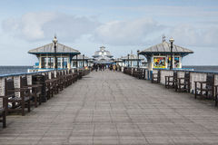 Llandudno Pier in North Wales, UK on an early Spring day. Stock Images