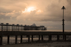 Llandudno pier at Sunset Royalty Free Stock Image