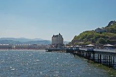 Llandudno Pier in Wales Großbritannien, lizenzfreies stockbild