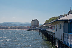 Llandudno pier in Wales UK, 2 Royalty Free Stock Images