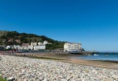 Llandudno Sea Front in North Wales, United Kingdom. Beautiful Summer Day in  Llandudno Sea Front in North Wales, United Kingdom Stock Photography